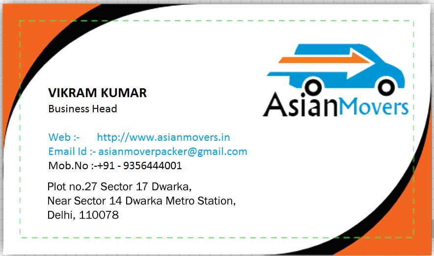 Asian Movers Business Card